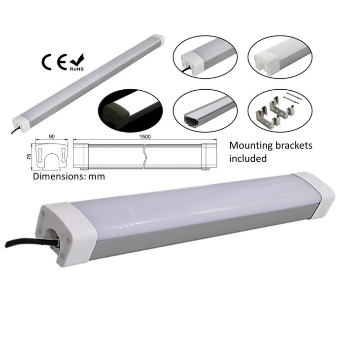 LED Tri-proof light - Vapour proof